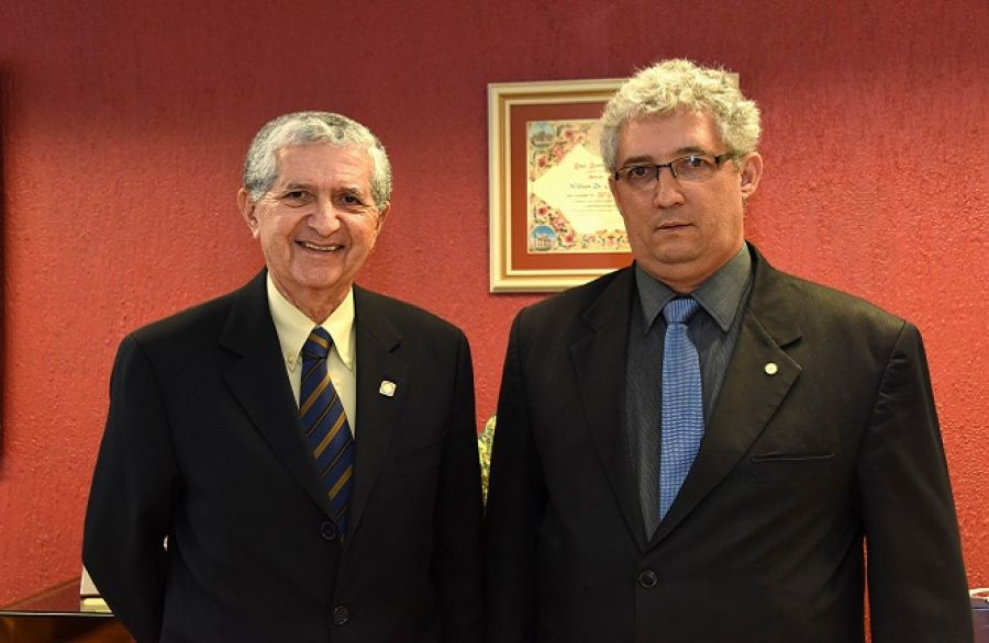 Ministro William de Oliveira Barros e o deputado federal Subtenente Gonzaga (PDT/MG)